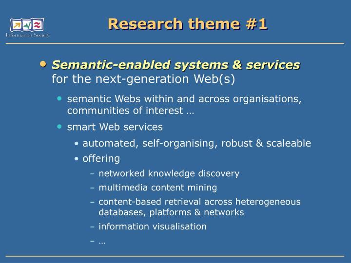 Research theme #1
