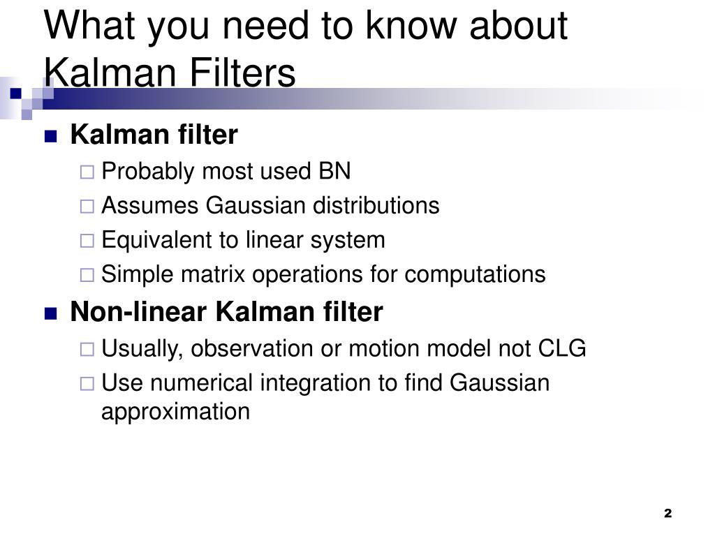 PPT - Switching Kalman Filter Dynamic Bayesian Networks