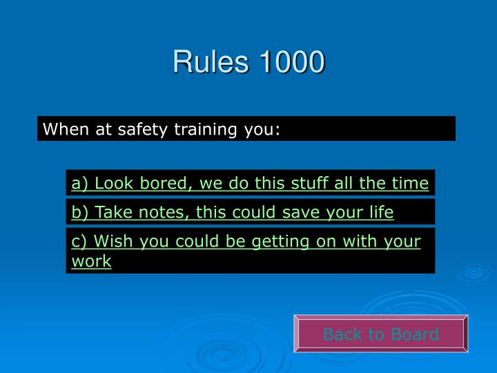 Rules 1000