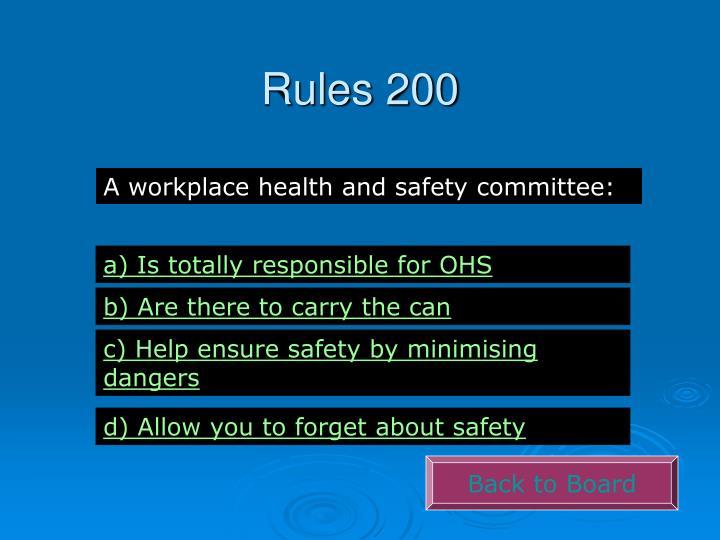 Rules 200