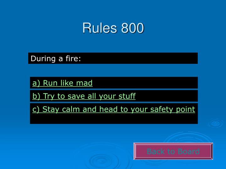 Rules 800