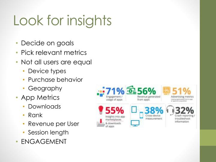 Look for insights