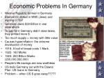 economic problems in germany