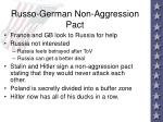 russo german non aggression pact