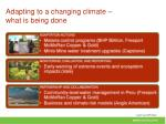 adapting to a changing climate what is being done1