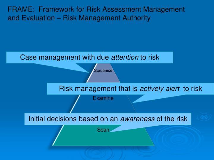 FRAME:  Framework for Risk Assessment Management and Evaluation – Risk Management Authority