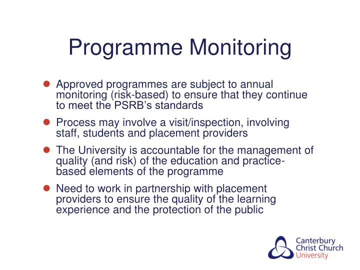 Programme Monitoring