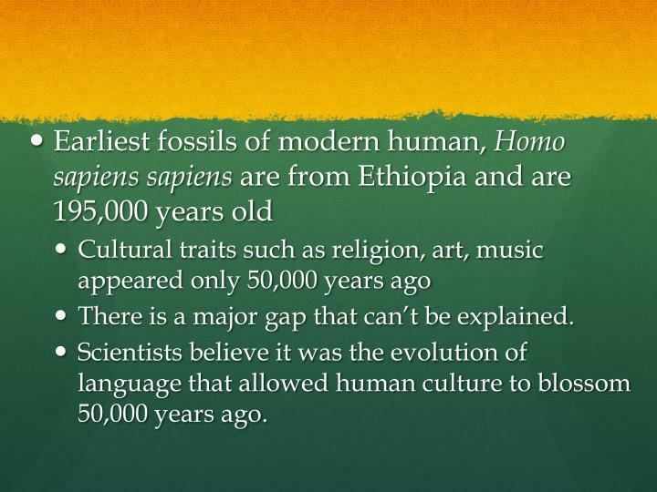 Earliest fossils of modern human,