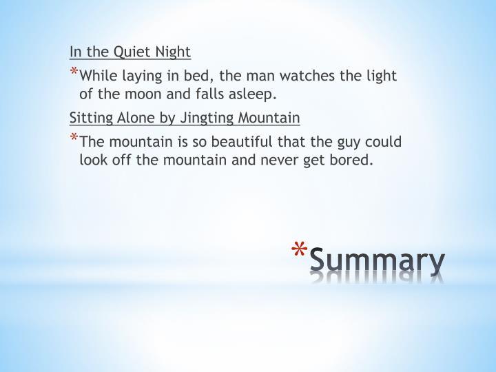 In the Quiet Night