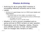 mission archiving
