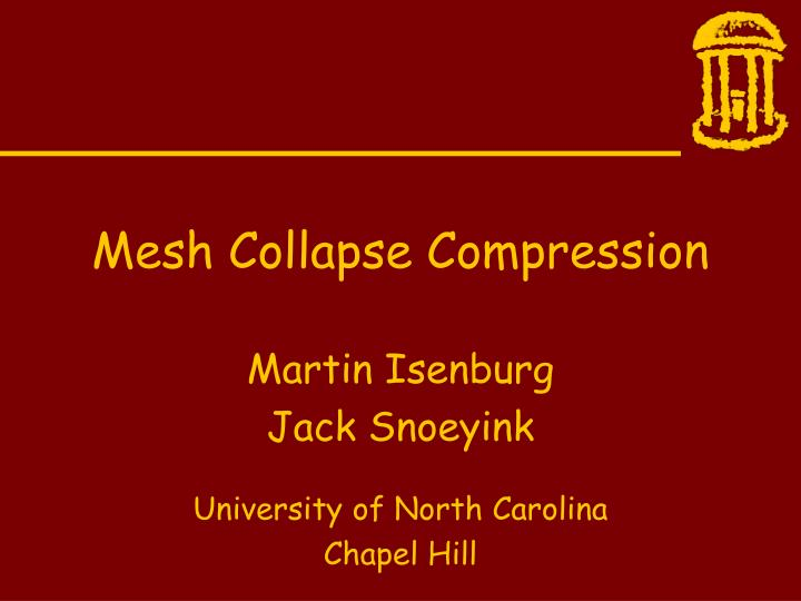 mesh collapse compression n.