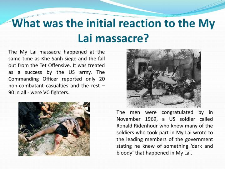 What was the initial reaction to the My Lai massacre?
