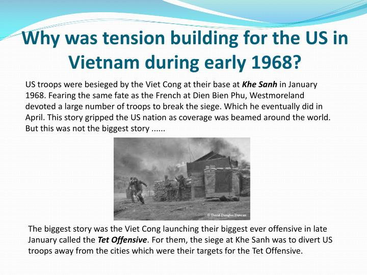 Why was tension building for the US in Vietnam during early 1968?