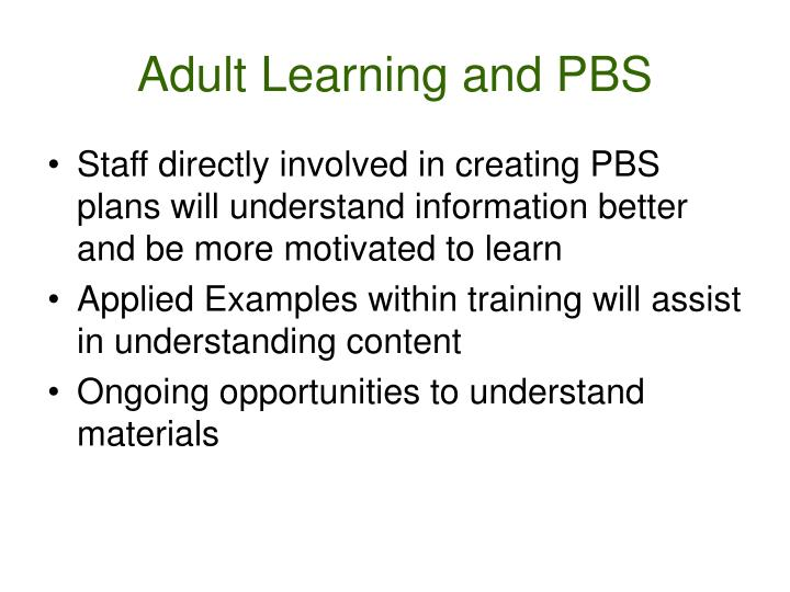 Adult Learning and PBS