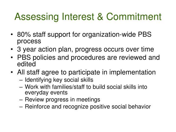 Assessing Interest & Commitment