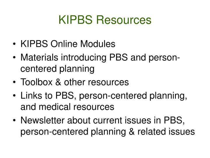 KIPBS Resources