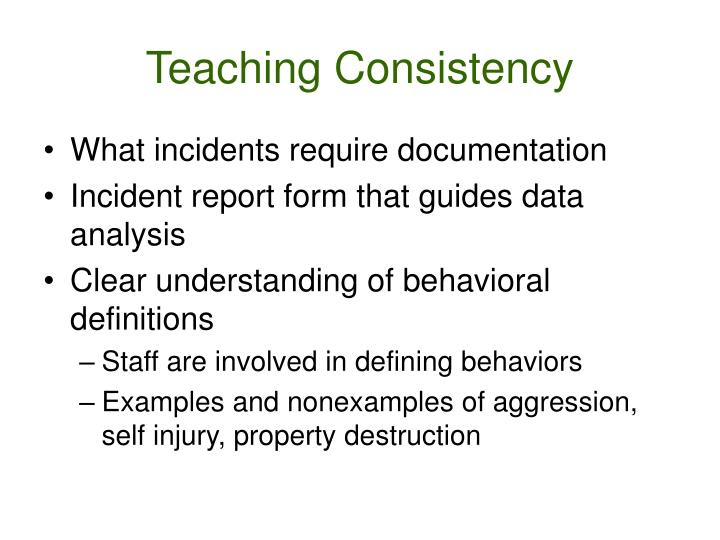 Teaching Consistency