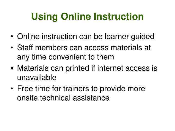 Using Online Instruction