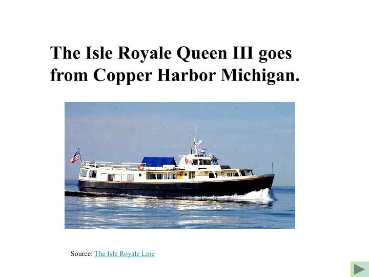 The Isle Royale Queen III goes