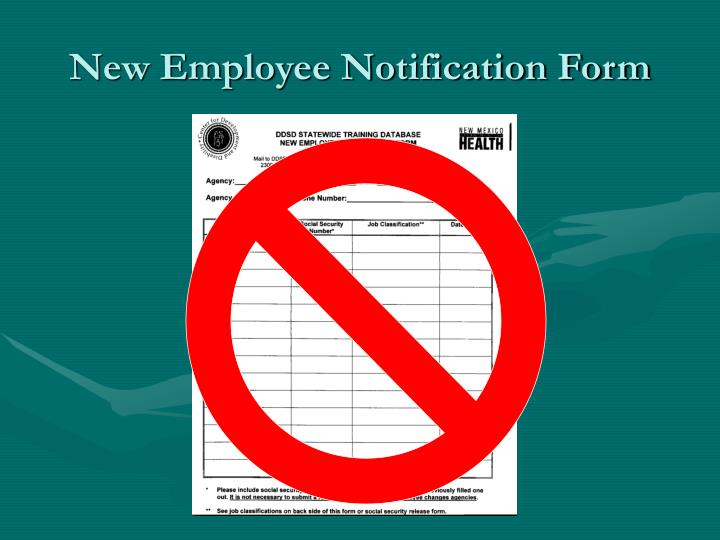 New Employee Notification Form