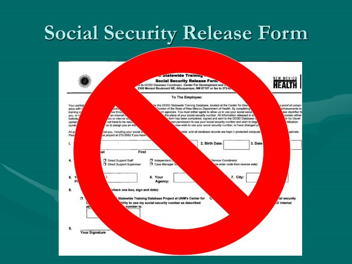 Social Security Release Form