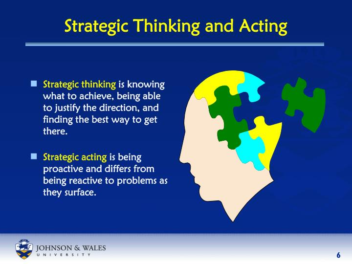 Strategic Thinking and Acting