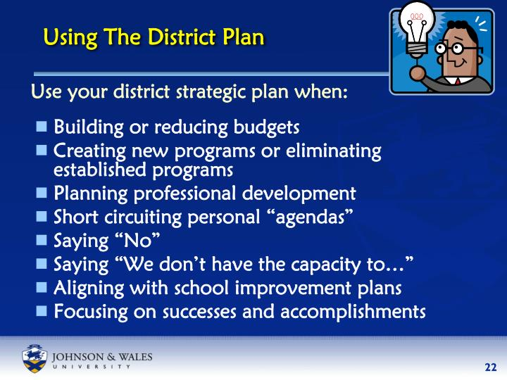 Using The District Plan