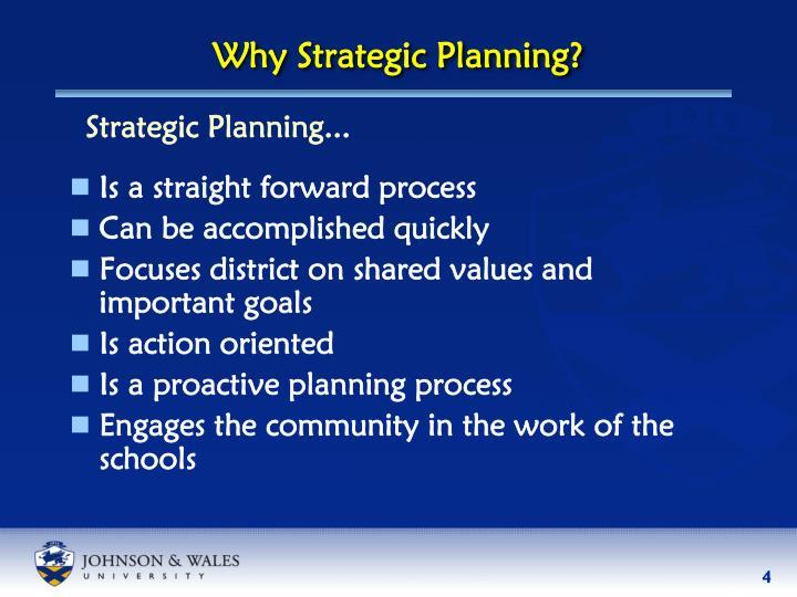 Why Strategic Planning?