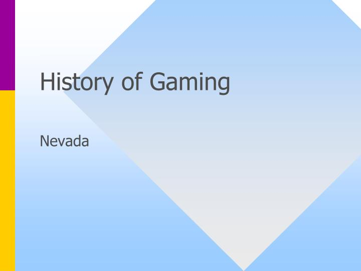 history of gaming n.