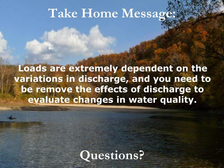 Take Home Message: