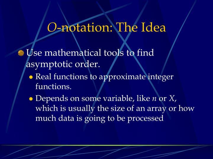 O notation the idea1