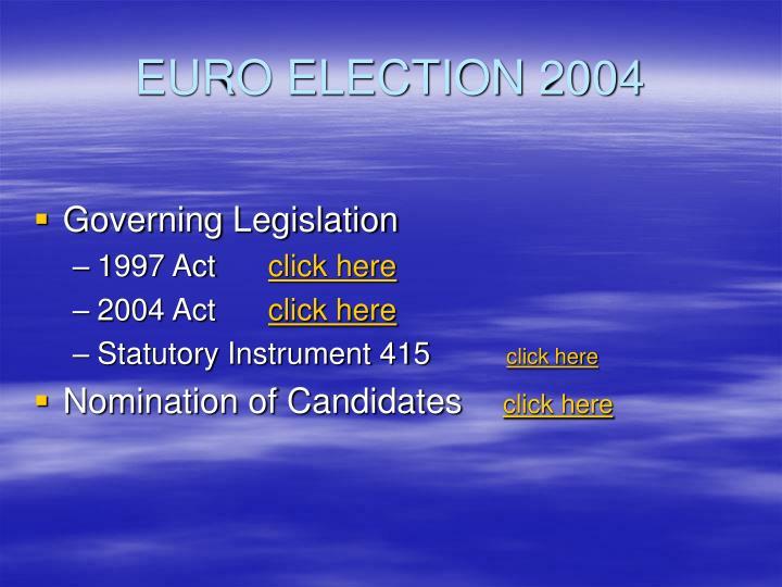 EURO ELECTION 2004