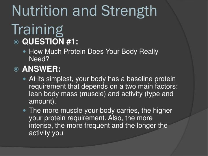 Nutrition and Strength Training