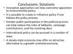 conclusions solutions