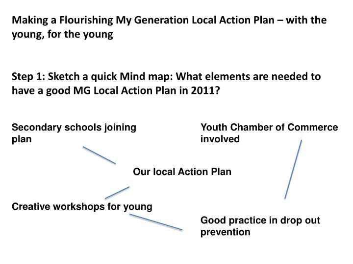 Making a Flourishing My Generation Local Action Plan – with the young, for the young
