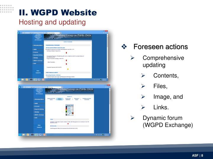 II. WGPD Website