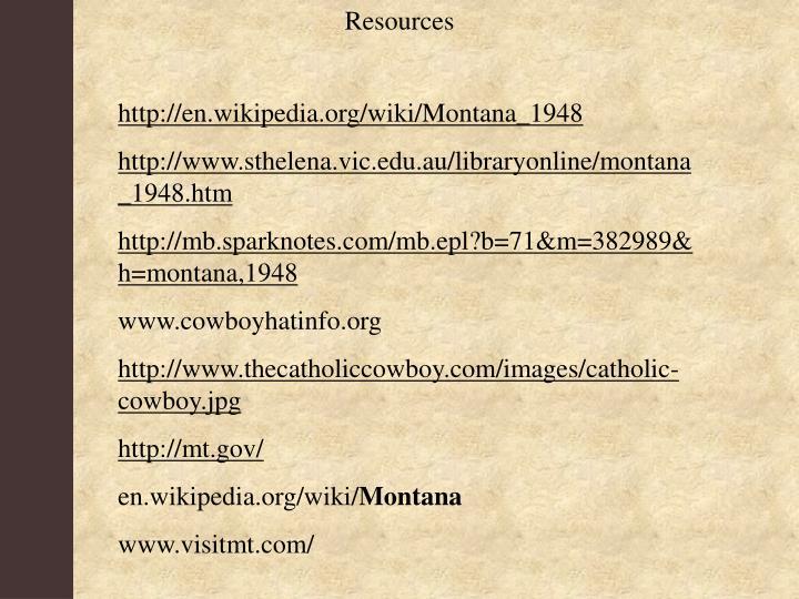 montana 1948 plot