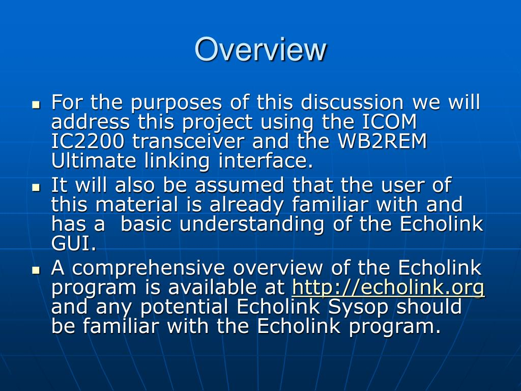 PPT - How to Setup and Configure an Echolink Node PowerPoint