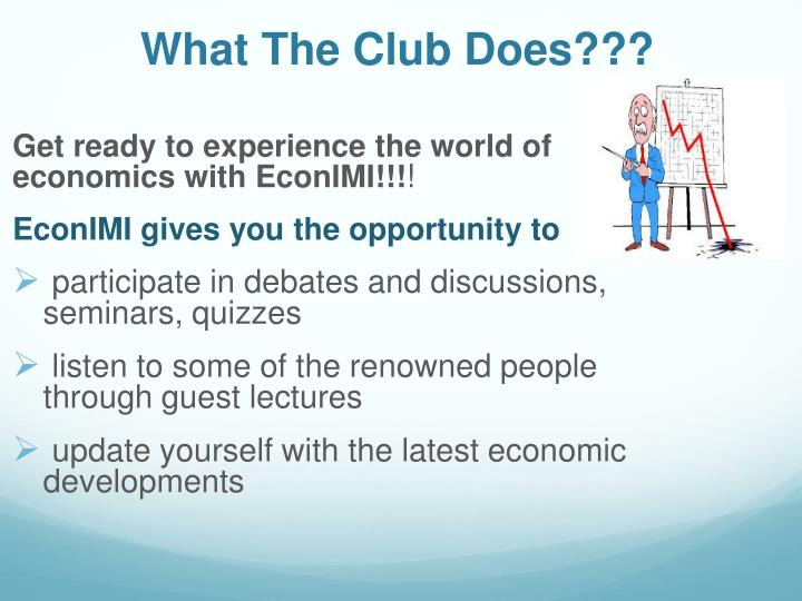 What the club does