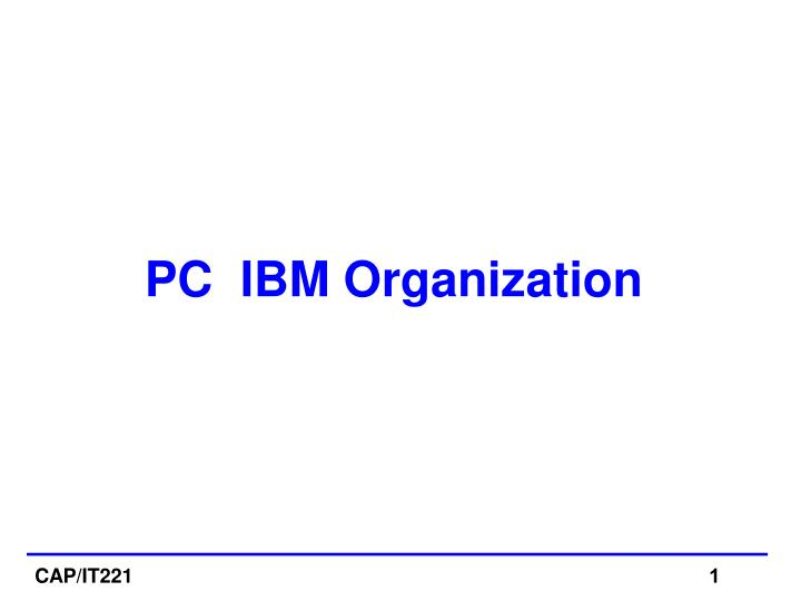 pc ibm organization n.