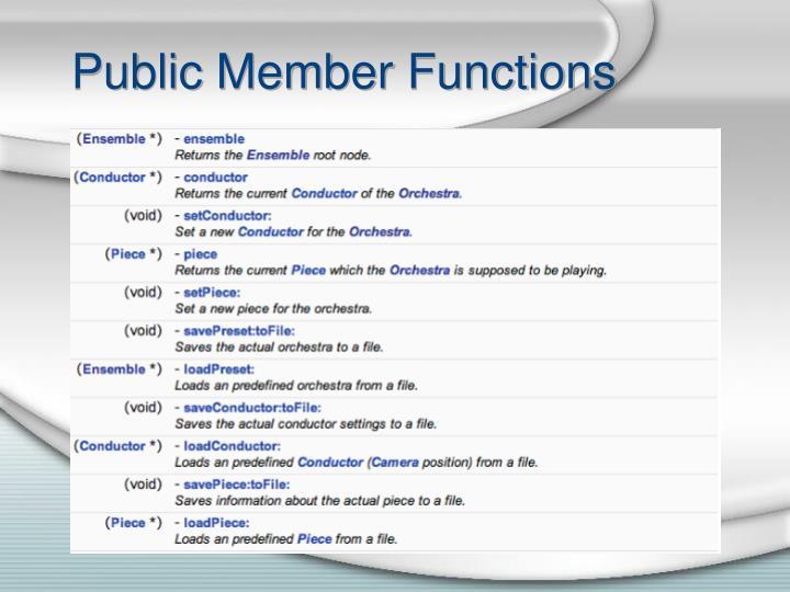Public member functions