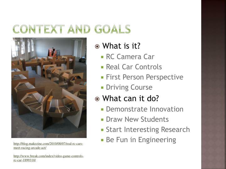 Context and goals