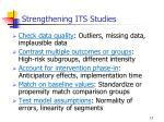 strengthening its studies