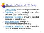threats to validity of its design