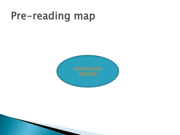 Pre-reading map