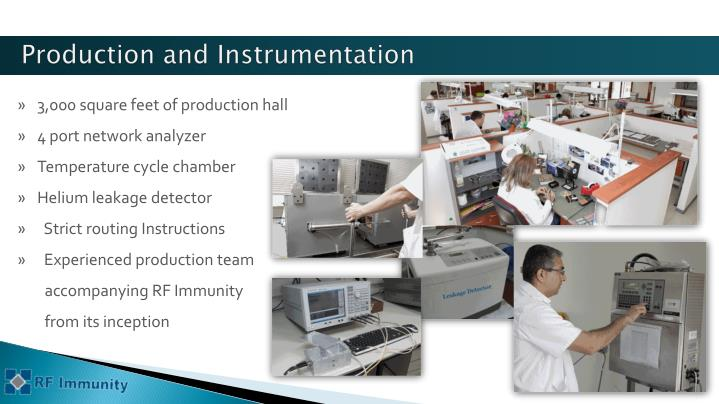 Production and Instrumentation