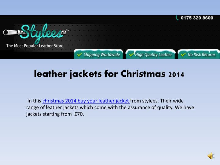leather jackets for christmas 2014 n.