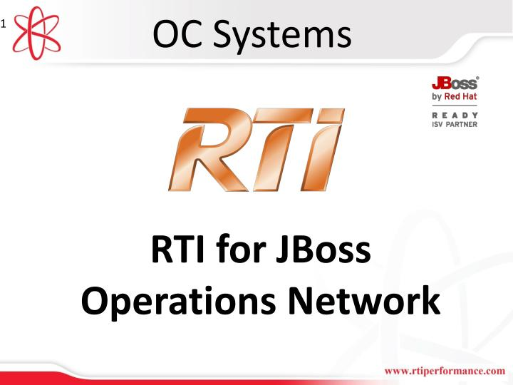PPT - RTI for JBoss Operations Network PowerPoint