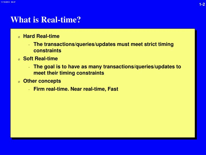 What is real time