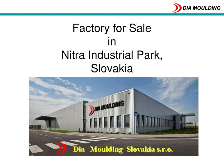 factory for sale in nitra industrial park slovakia n.